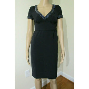 TORY BURCH Navy Rhinestone Embellished Dress Sz 0